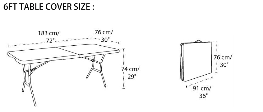 what size tablecloth for 6ft table photos table and pillow rh weirdmonger com 6ft table dimensions in inches 6ft trestle table dimensions