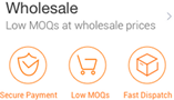 Wholesale, Low MOQ at Wholesale Prices
