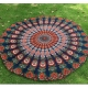 150x150 -  Khaki Peacock Feather Pattern Round Chiffon Printed Beach Towel