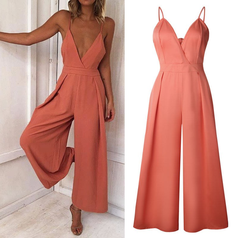 88cdc63a2d4 NEW Women Ladies Clubwear Summer Playsuit Bodycon Party Jumpsuit Romper  Trousers Fashion Casual Solid Bell-Bottoms Belt pants Item NO  32864520145