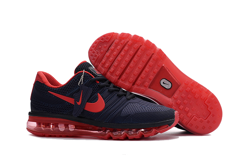 Men Air Max 2017 Black Red Running Shoes Sneakers Item NO AM028