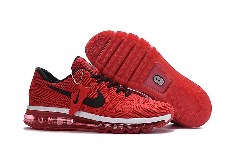 Nike Air Max 2017 Red Black White Running Shoes