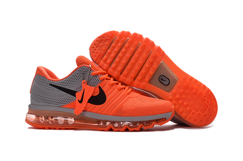 b90be30b97a2 ... Men Air Max 2017 Grey Orange Running Shoes Sneakers. Loading zoom limited  edition nike ...