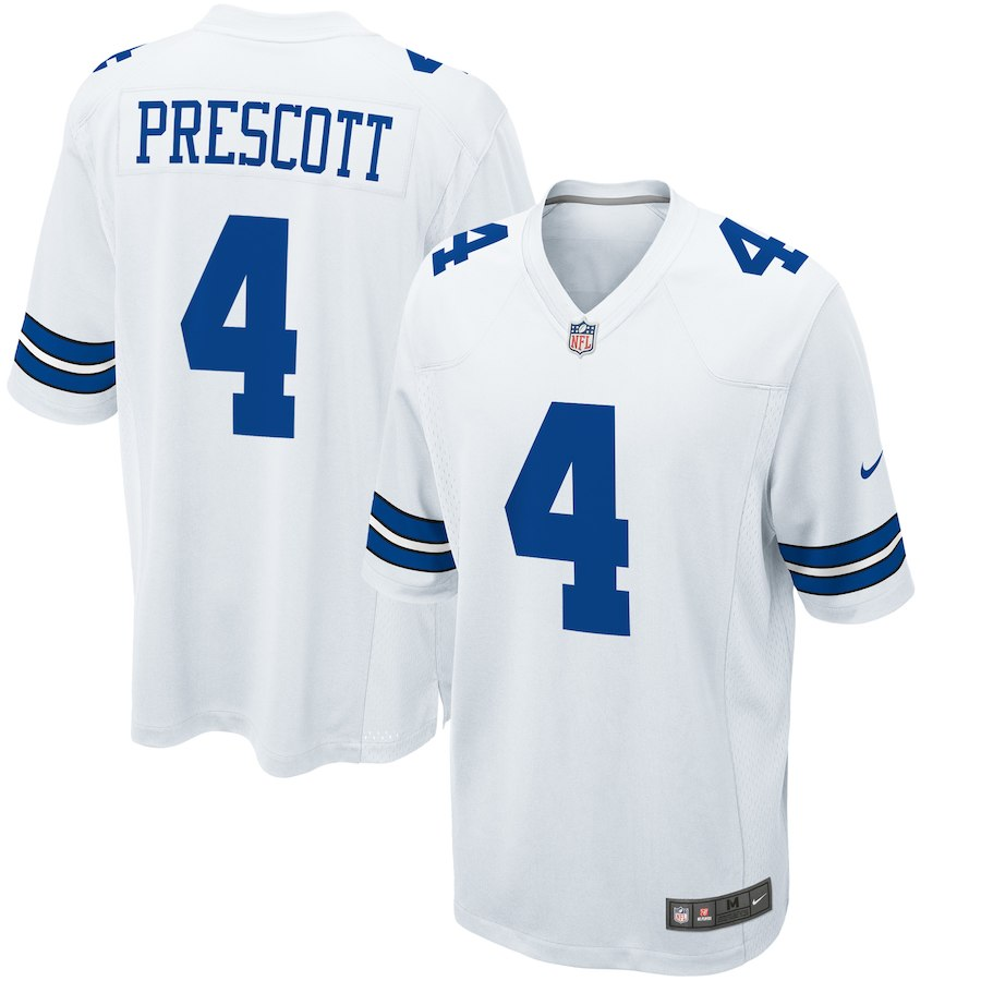 Men s Dallas Cowboys Dak Prescott Nike White Game Jersey 5732deefc