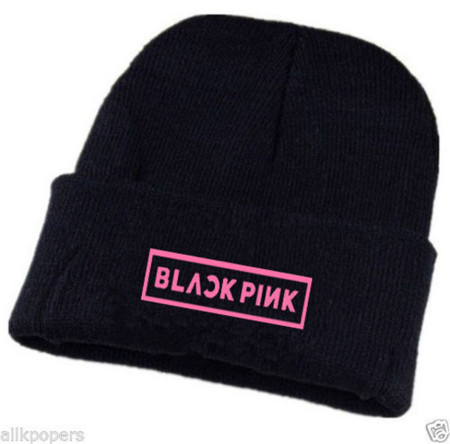ALLKPOPER KPOP BlackPink Beanie Hat Unisex JISOO Adjustable Knit Cap SKI Winter JENNIE