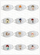 ALLKPOPER EXO Mouth Mask Kpop SM TOWN Chan Yeol Lu Han Cartoon Muffle