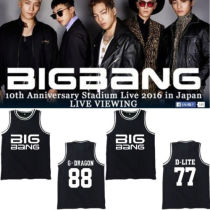 Kpop Bigbang T-Shirt Basketball Singlet Unisex G-Dragon Tshirt Sleeveless Shirt