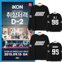KPOP IKON Sweatershirt Welcome Back Sweater JINHWAN B.I Hoodie Unisex Pullover Bobby Jun Hoe