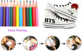 ALLKPOPER Kpop BTS Wings Hand Painting Shoes Unisex V Ankle Boots Sport DIY Bangtan Boys