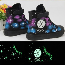 ALLKPOPER Kpop EXO High Sneaker Casual Luminous Shoes Shoe Skateboard Starry Chanyeol suho