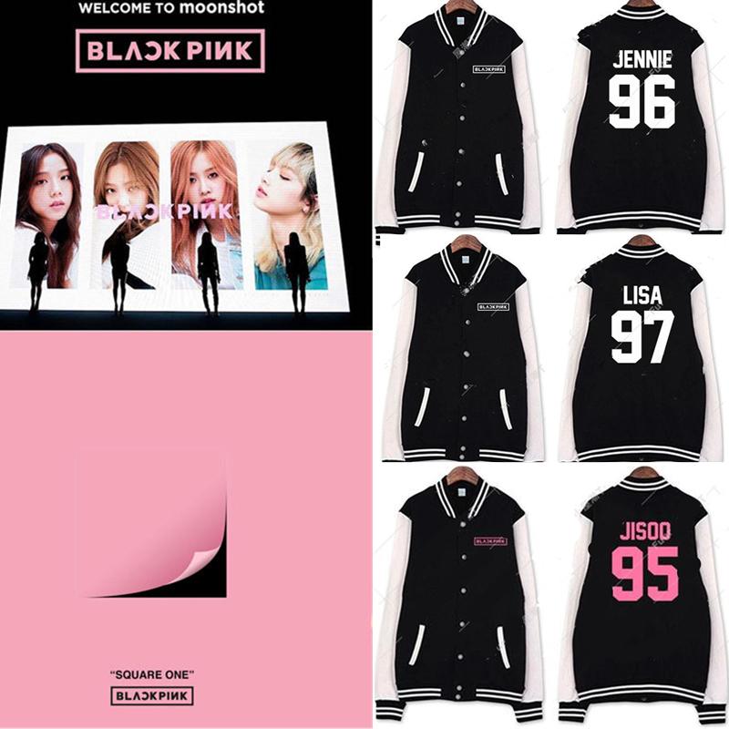 US$ 15.99 - ALLKPOPER Kpop Blackpink Baseball Uniform Coat SQUARE ...
