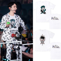 ALLKPOPER KPOP SHINEE FIVE Cartoon T-shirt Unisex TAEMIN KEY Tshirt Short Sleeve Cotton