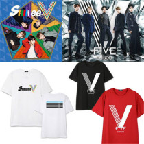 ALLKPOPER KPOP SHINEE FIVE T-shirt Unisex KEY TAEMIN Tshirt Short Sleeve Cotton Tee