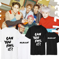 ALLKPOPER  KPOP Highlight T-shirt CAN YOU FEEL IT Tshirt Unisex Short Sleeve Cotton Tee