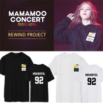 ALLKPOPER KPOP MAMAMOO Tshirt MOOSICAL Curtain Call WHASA T-shirt Unisex Solar Tee Cotton