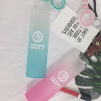 ALLKPOPER KPOP GOT7 Water Cup NEVER EVER Glass Bottle Gradient Frosted Drink JB Bambam