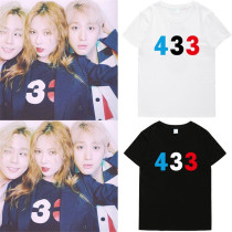 ALLKPOPER Kpop 4MINUTE Kim Hyun A T-shirt In Practice Room Short Sleeve Casual Tshirt