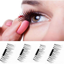 ALLKPOPER 4Pieces/set Magnetic 3D False Eyelashes Long Natural Fake Eye Lashes Extension
