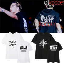 ALLKPOPERKPOP Bigbang Tshirt WHITE NIGHT Concert Dong Young-Bae Tshirt G-Dragon Tee GD Tops Kang Dae Sung 2017 New