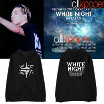 ALLKPOPER KPOP Bigbang Cap Hoodie WHITE NIGHT Concert Dong Young-Bae Hoody G-Dragon Pollover Sweatershirt 2017 New Kang Dae Sung