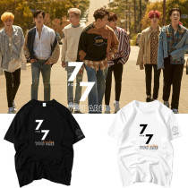 ALLKPOPER KPOP GOT7 JR T-shirt 7FOR7 You Are​ Around Tshirt Merchandise Cotton Short Top Tee