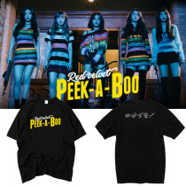 ALLKPOPER KPOP Red Velvet T-shirt Perfect Velvet Ablum Tshirt Peek-A-Boo Casual Tee Tops