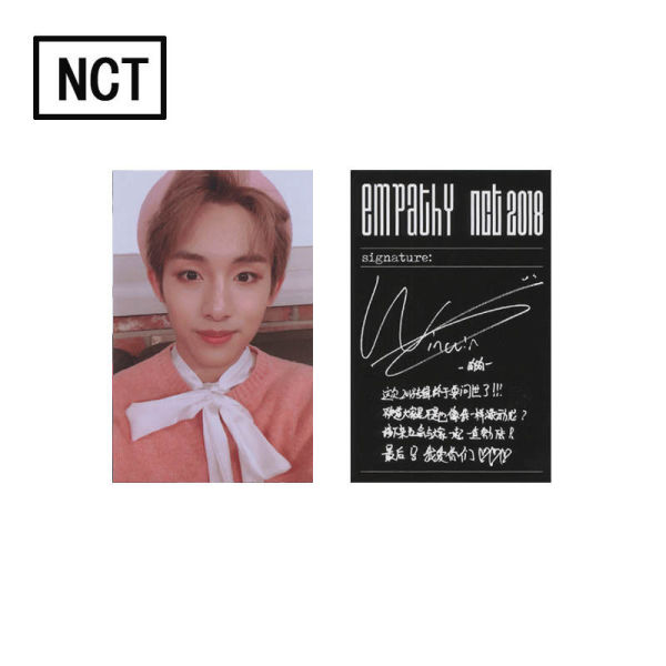 KPOP 1pc NCT Lomo Card 2018 EMPATHY REALITY Photocards Gift Card TaeYong