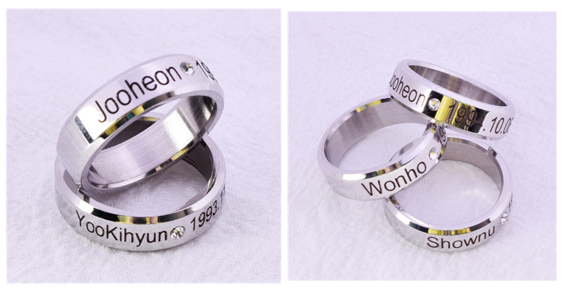 MONSTA X Ring Finger Rings