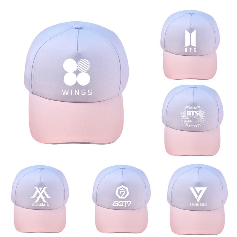Kpop BTS Baseball Cap GOT7 Gradient Snapback EXO TWICE Blackpink Seventeen  Hat Item NO  712844 ebcc9b81d9f0