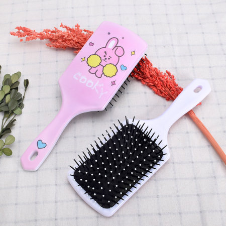 KPOP BTS Comb Bangtan Boys Cartoon Cute Korea Style BT21 Plastic Hair Comb Long Handle