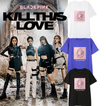 K-pop BLACKPINK T-shirt Kill This Love LISA ROSE JISOO Tshirt Tops Tee
