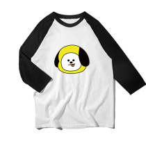 Kpop BTS T-shirts bangtan boyswith the same type of rotator sleeves, round collar, long sleeve jerseys, men's and women's summer T-shirts