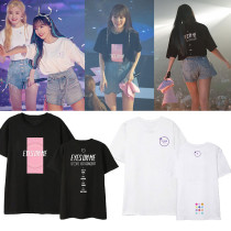KPOP IZONE T-shirt EYES ON ME surrounding clothing the same short-sleeved T-shirt short sleeve shirt