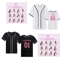 KPOP IZONE T-Shirt IZONE members birthday should support the surrounding clothing the same short-sleeved baseball shirt men's and women's shirts CHAEYEON