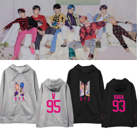 KPOP BTS Sweater bangtan boys  MAP OF THE SOUL PERSONA album  the same paragraph hooded sweater