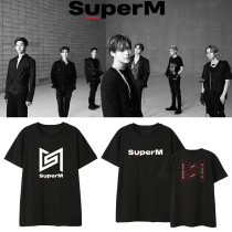 Kpop SuperM T-shirt album Kai BAEK HYUN Lee Taemin Mark Lucas around the same short-sleeved T-shirt