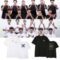 KPOP X1 T-shirt album concert  the surrounding clothes printing with the same paragraph short-sleeved T-shirt