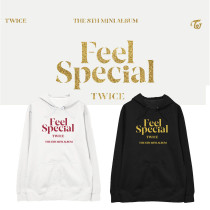 Kpop TWICE sweater album FEEL SPECIAL with the same paragraph hooded sweater plus velvet thin coat loose men and women