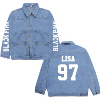 Kpop BLACKPINK denim jacket, versatile, comfortable clothes, male and female students, spring and autumn lovers, coats