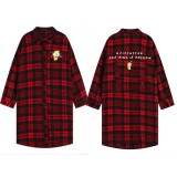 Kpop BTS Bangtan Boys Blouse Concert Red Plaid Shirt Korean Version Of the Long Section Spring And Autumn Coat