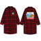 Kpop BTS Bangtan Boys Blouse Red Plaid Shirt New Cartoon Cute Medium Long Spring Jacket