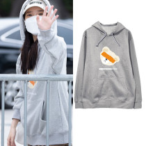 Kpop IU Hooded Sweater Street Shooting Clothes Same Model Sweaters Hoods Hoodies Tops