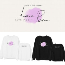 Kpop IU 11th Anniversary Concert Album Love Poem Same Model Sweater Loose Round Collar Sweatshirt