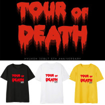 Kpop HYUKOH T-shirt 5th Anniversary Tour of Death Commemorative Same paragraph Short-sleeved T-shirt
