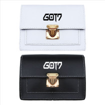 Kpop GOT7 Shoulder Bag Korean version Wild Simple Messenger Bag Cute Mini Black and White Small Square Bag Student Leisure Bag