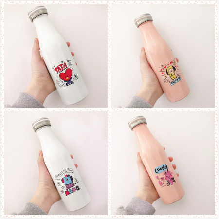 Kpop BTS New Insulation Cup Bangtan Boys The same paragraph Water Cup Men and women Students Stainless Steel Travel Cup