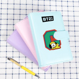 Kpop BTS Bangtan Boys Notebook Letter Print Candy Color Notepad Student Writing CHIMMY COOKY