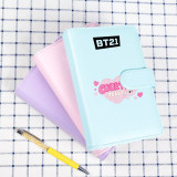 Kpop BTS Bangtan Boys Notebook With The Same Paragraph Cute Candy Color Notepad Student Writing