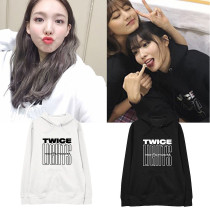 Kpop TWICE Sweater TWICELIGHTS Concert with the same sweater Hoodie sweater Hoodie