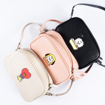 Kpop BTS Shoulder Bag Bangtan Boys New Cartoon Cute Crossbody Small Square Bag Wild Student Female Bag